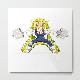 Vegeta lifting iron Metal Print