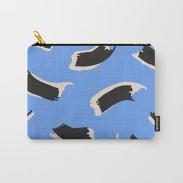 Animal Stripes on Blue Carry-All Pouch
