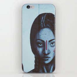 Indian girl mural iPhone Skin