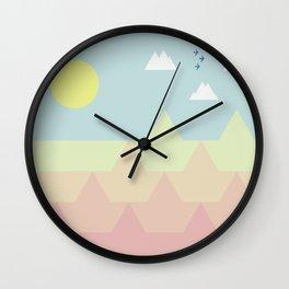 Bird-rise Mountain Wall Clock