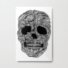 Skull No.9 Pluma Metal Print
