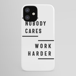 Nobody Cares Work Harder Fitness Workout Gym Gift iPhone Case