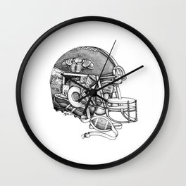 Football Helmet Wall Clock