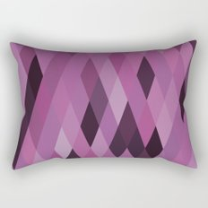 Muted Berry Color Harlequin Pattern Rectangular Pillow