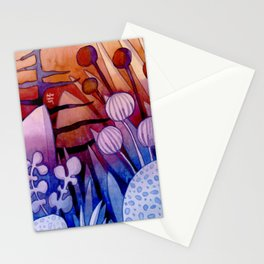 FLORAL EXOTIC PLANTS Stationery Cards