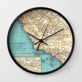 So Cal Surf Map Wall Clock