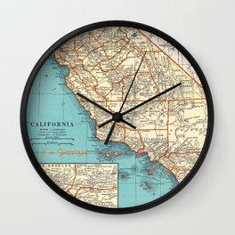 So Cal Surf Map Wall Clock