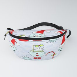 Funny Christmas faces Fanny Pack