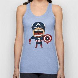 Screaming Captain America Unisex Tank Top