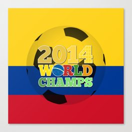 2014 World Champs Ball - Colombia Canvas Print