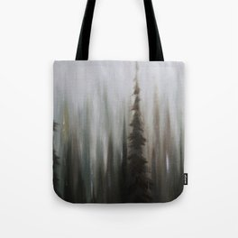 Pacific Northwest Forest oil painting by Jess Purser Tote Bag