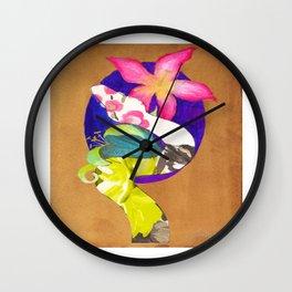 Albino Boa Constrictor with lillies Wall Clock