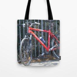 red bike Tote Bag