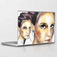 emma watson Laptop & iPad Skins featuring Emma Watson by caffeboy