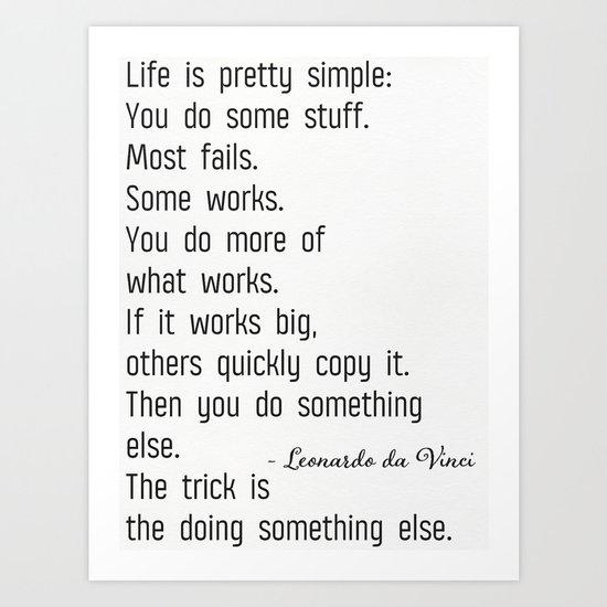 Leonardo da Vinci quote b by printscenter
