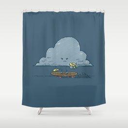 Thunder Cloud Skater Shower Curtain