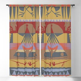 American Native Pattern No. 73 Blackout Curtain