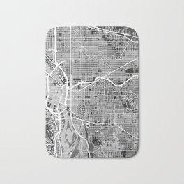 Portland Oregon City Map Bath Mat