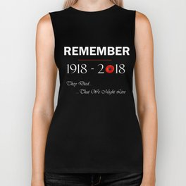 World War 1 Remember 1918 2018 Centennial 100 Years Memorial Biker Tank