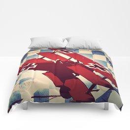 Fokker triplane (Red Baron) Pop Art Comforters