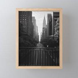 A perfect New York City stroll Framed Mini Art Print