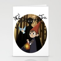 over the garden wall Stationery Cards featuring Over The Garden Wall by Lockholmes