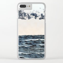 Old men should be explorers Clear iPhone Case