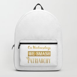 On Wednesdays We Smash the Patriarchy, Gold Backpack