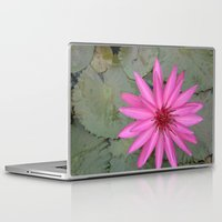 indonesia Laptop & iPad Skins featuring water lily (Bali, Indonesia) by Christian Haberäcker - acryl abstract
