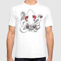 Low Key squiDJ Mens Fitted Tee White MEDIUM
