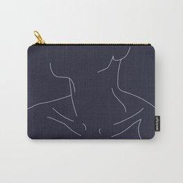 Woman's neckline illustration - Ali Blue Carry-All Pouch