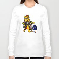 pooh Long Sleeve T-shirts featuring Doctor Pooh by Murphis the Scurpix