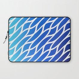 Blue Diagonal Pattern Laptop Sleeve