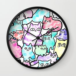 Inky Cats Wall Clock