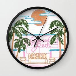 Hollywood Park Casino Wall Clock