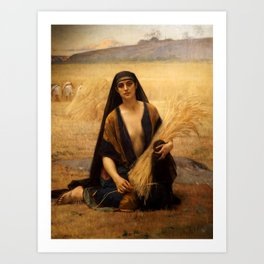 "Alexandre Cabanel ""Ruth in the Field of Boaz (Ruth glanant)"" Art Print"