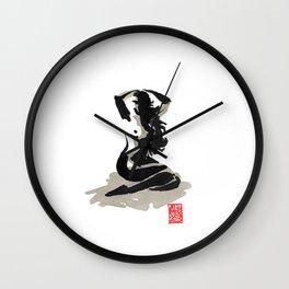 Estampe Nue 4 Wall Clock
