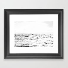 WHITE - SEA - WAVES - WATER - WHALE - NATURE - ANIMAL - PHOTOGRAPHY Framed Art Print