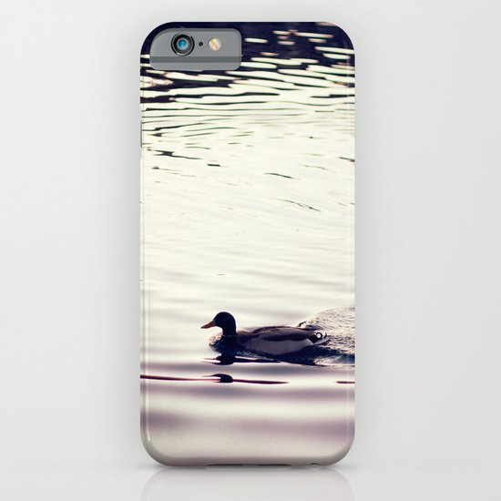 Swimming at Sunset iPhone & iPod Case