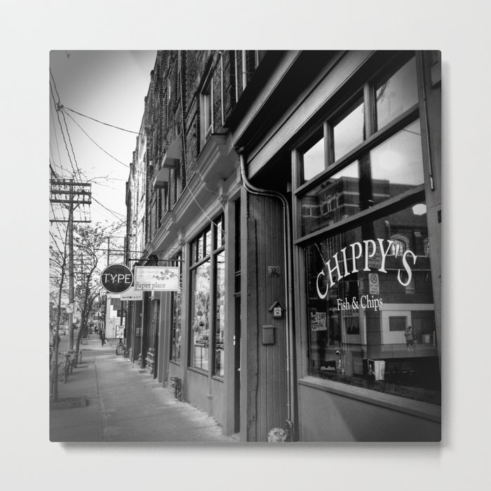 Storefronts Along Queen Street West in Toronto Metal Print