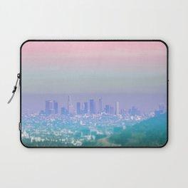Los Angeles Scenic Southern California Landscape Colored Sun Haze Wall Art Print Laptop Sleeve