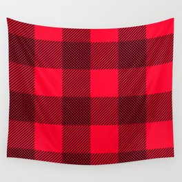 DigiPlaid Red Wall Tapestry
