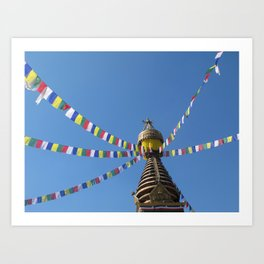 Prayer Flags Art Print