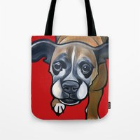 lucy Tote Bags featuring Lucy by Pawblo Picasso