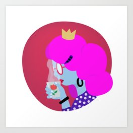 Tea Time - illustrated girl boss at tea o clock Art Print