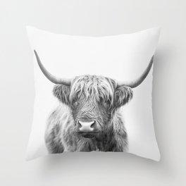 Highland Bull Throw Pillow