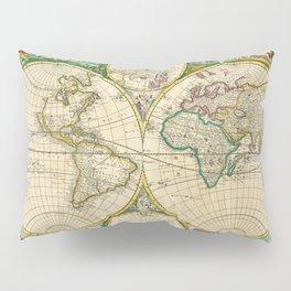 "Frederik de Wit ""Worldmap"" title Nova Orbis Tabula, In Lucem Edita (1670) Pillow Sham"