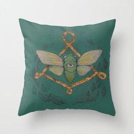 Call Of The Cicada Throw Pillow