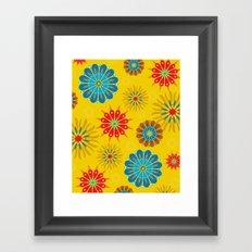 Psycho Flower Gold Framed Art Print