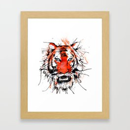 tigerish Framed Art Print